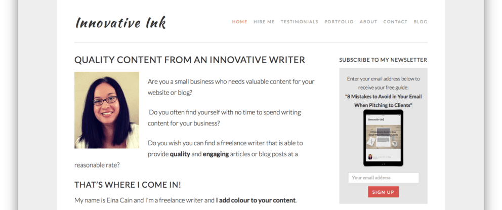 Screen Shot OLD Innovative Ink Landing Page
