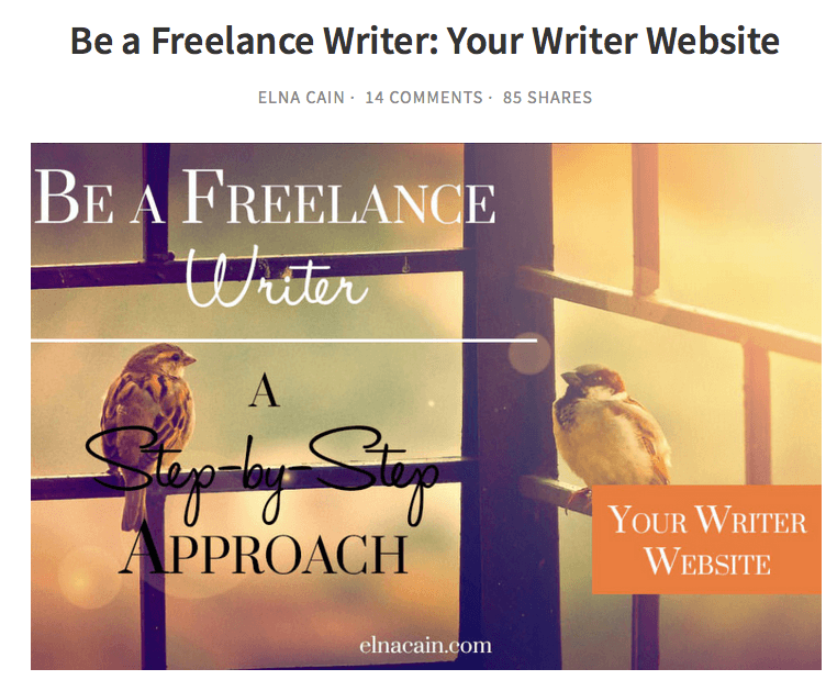 beafreelancewriter website