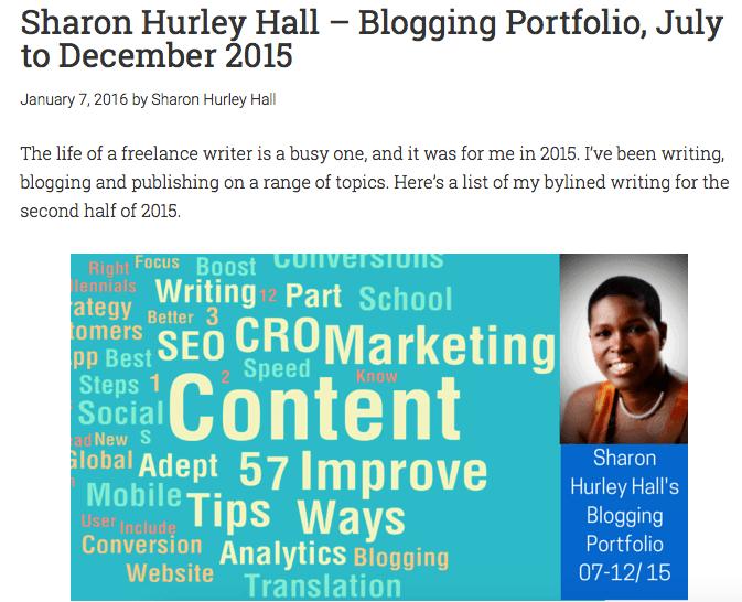 blogging portfolio