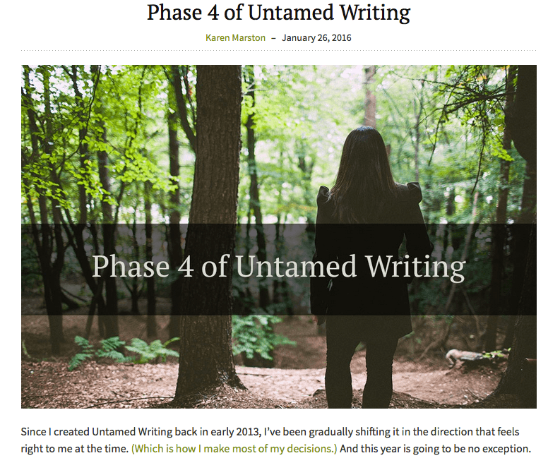 untamed writing