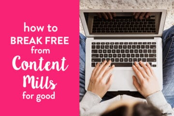 Content Mills – How to Break Free for Good