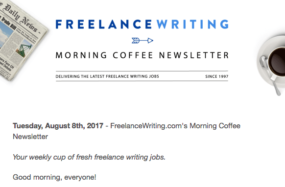 places to land lance writing gigs online elna cain lance writing offers the morning coffee newsletter
