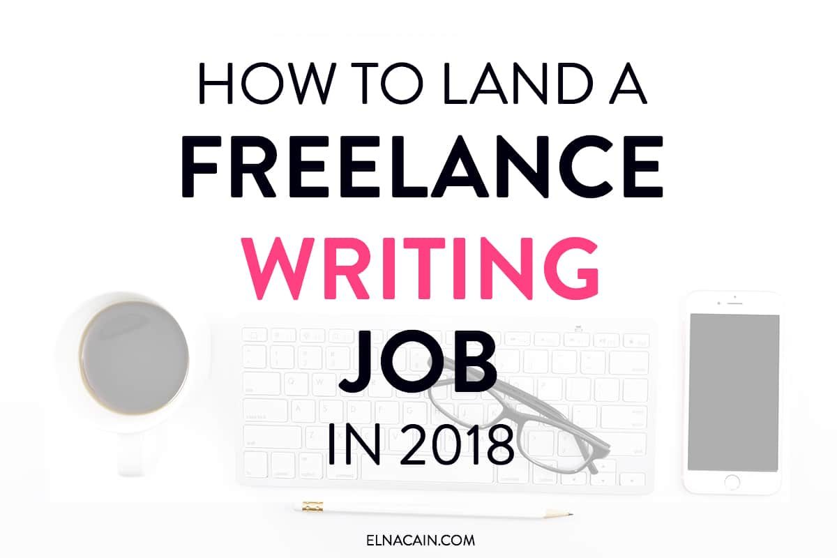How to land a freelance writing job in as beginner
