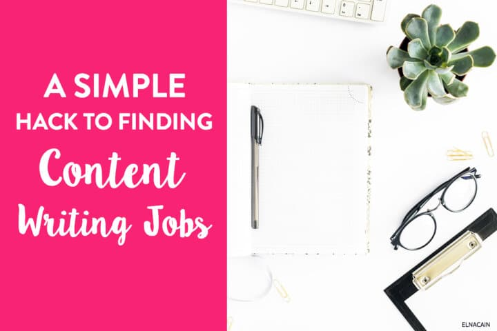 A Simple Hack for Finding Content Writing Jobs