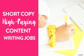 24 Short Copy, High-Paying Part Time Content Writing Jobs (Up to $1,000 pay)
