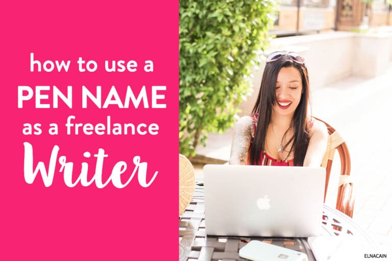 All About Using a Pseudonym to Freelance Write (Having a Pen Name)