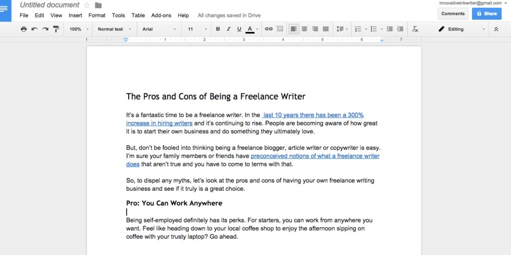 Google Doc formatting